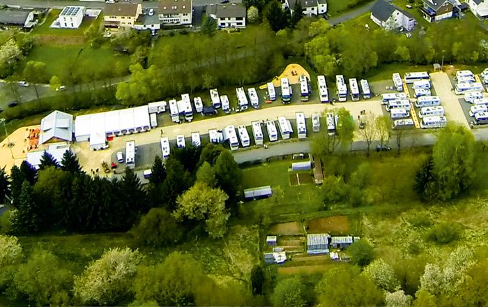 LandYachting Urbachtal Luftaufnahme