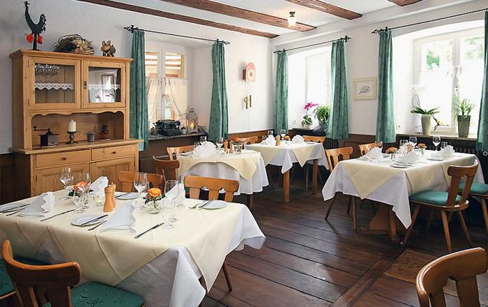 Im Restaurant Rebstock in Sulzburg kann man wunderbar speisen