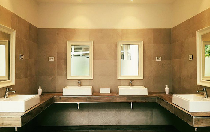 Die neuen Designer-Sanitärgebäude wurden 2016 errichtet.