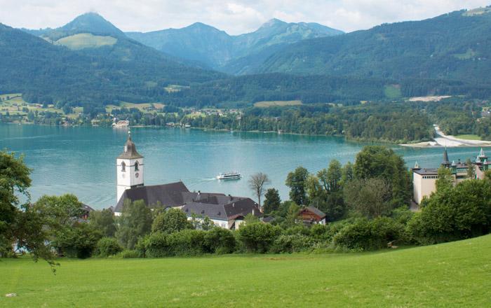 Blick auf St. wolfgang am Wolfgangsee