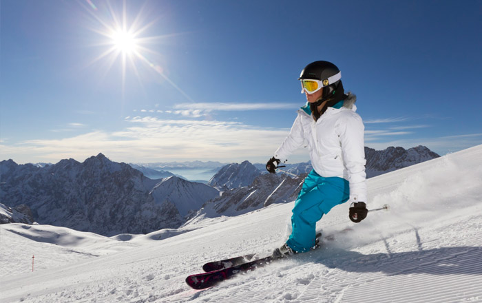 Für Skifans ist die Zugspitzregion ein Traumgebiet