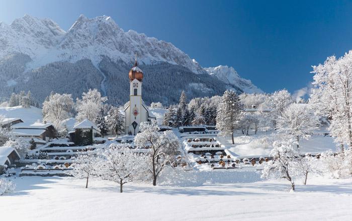 Die Gegend um Grainau im Winter ist ganz bezaubernd