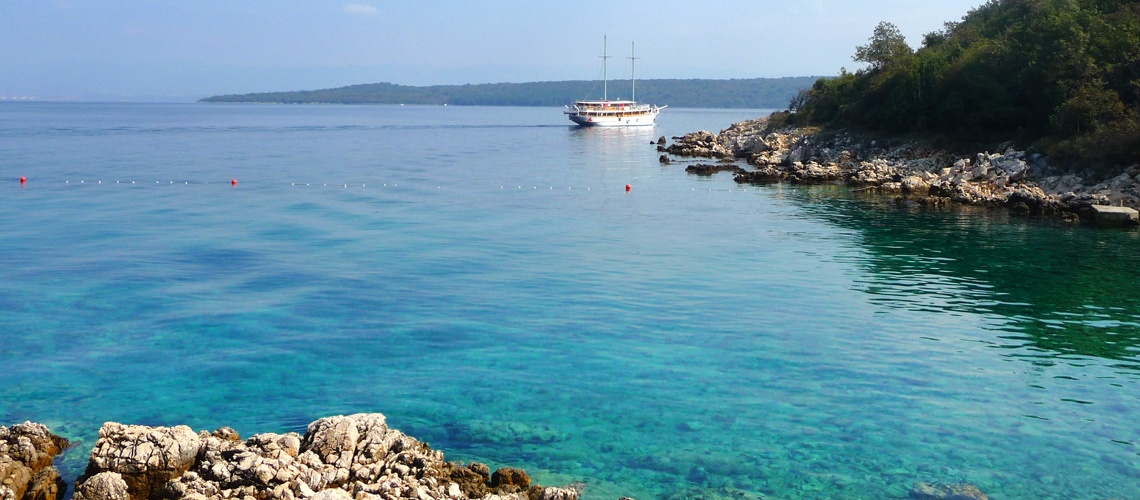 Bucht auf der Insel Krk