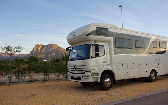 Viel Platz für große Wohnmobile bietet der Camping El Torres