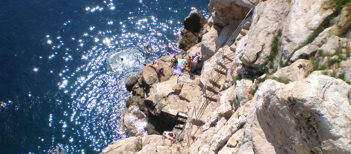 In Dubrovnik kann man auch baden
