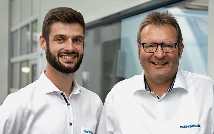 Guido Dahinden und Sohn Silvan