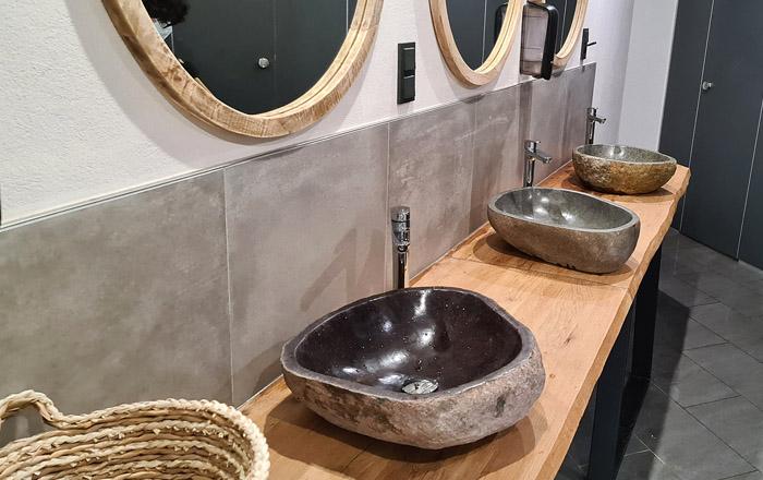 Neue Designer Sanitäranlagen gibt es auf dem Camping Resort Limburg